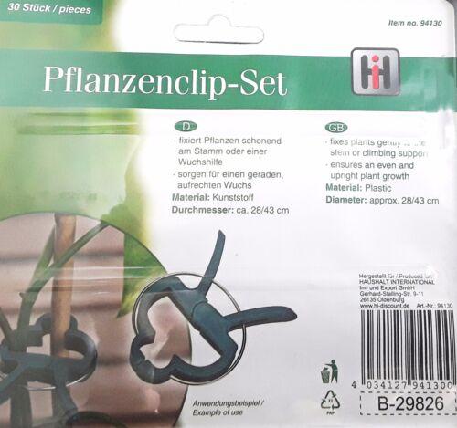 0,29€//Stück Pflanzenclips Pflanzenhalter Pflanzenklammer  Garten 30 Stück