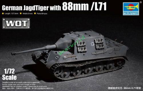 Trumpeter 07166 1//72 German JagdTiger with 88mm //L71 Plastic Assembly Model Kit