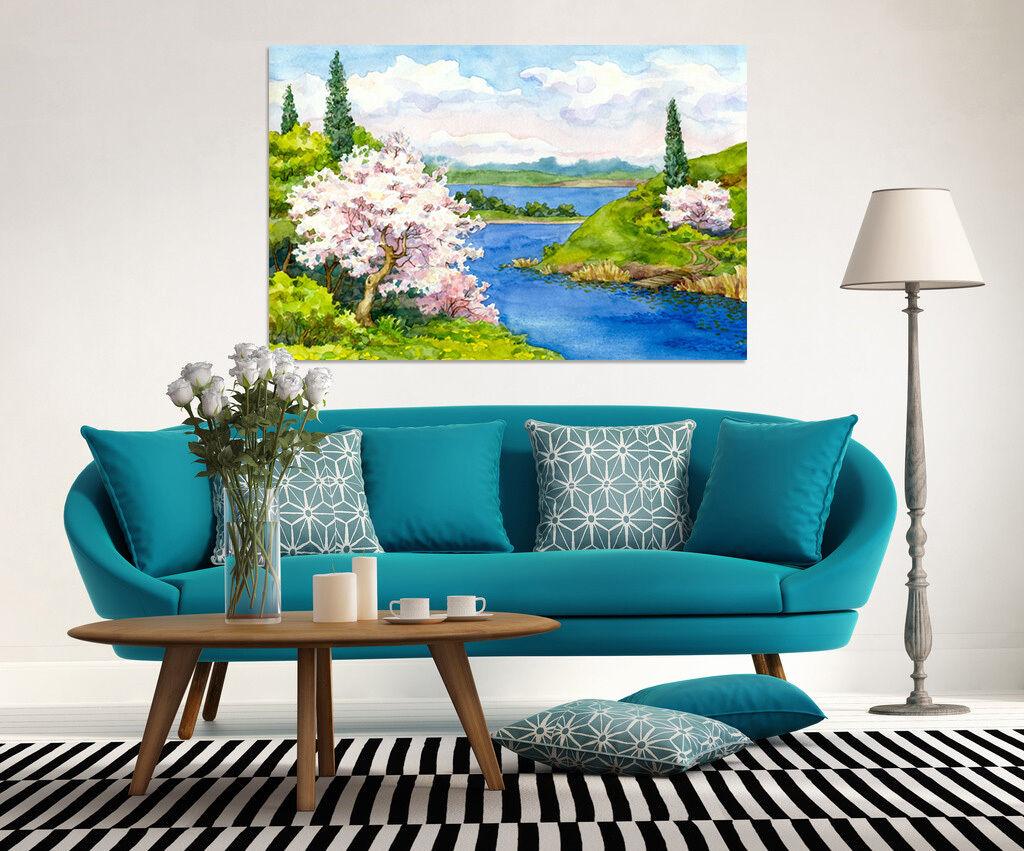 3D Grass Baum Wolke Blau Meer 7 Fototapeten Wandbild BildTapete AJSTORE DE Lemon