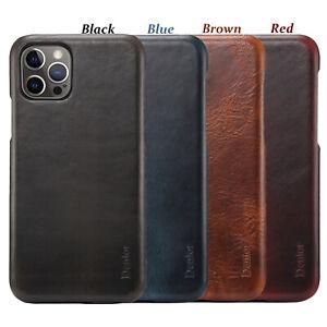 Vintage-Echt-Leder-Ultra-Duenn-Schutzhuelle-Back-Cover-Case-f-iPhone-12-11-Pro-Max