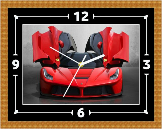 weinstander ferrari 430 car wall clock gift present christmas birthday can be personalised ikea