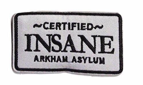 "The JOKER Certified Insane ARKHAM ASYLUM Logo Crest Embroidered Patch 3.5/"""