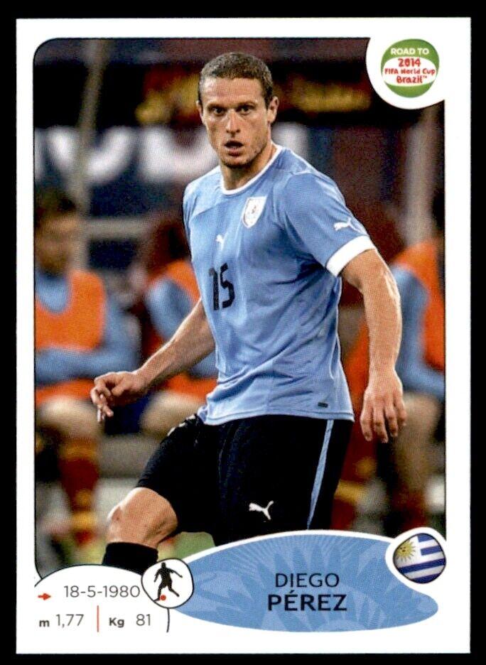 Adrenalyn XL-Diego Perez-uruguay-Road to 2014 FIFA World Cup Brazil