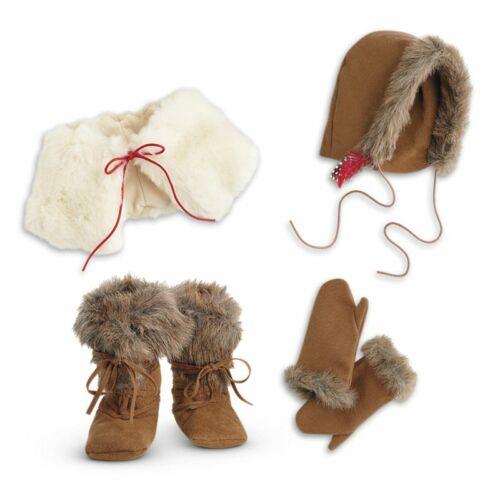 B//O Cape Moccasins Mittens Hood NIB American Girl Kaya Winter Accessories