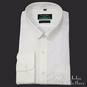 Round collar shirt egyptian cotton checks for men formal for Round collar shirt men