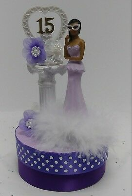 Pleasant Quinceanera Sweet 15 Birthday Cake Topper Centerpiece Decoration Personalised Birthday Cards Veneteletsinfo