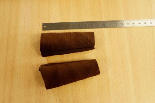 manchons élastiques marron pour courroies accordéon. Paire de protections