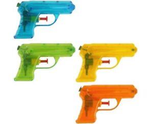 SMALL-WATER-GUN-BLUE-ORANGE-GREEN-YELLOW-11-15CM-KIDS-OUTDOOR-PARTY-TOY-GIFT-UK