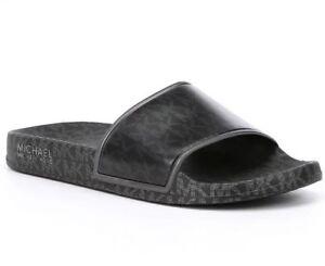a7e7cce6814d Women MK Michael Kors Nolan Slides Slip On Sandal Signature Logo ...
