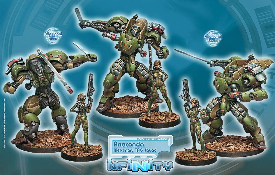 Infinity BNIB Mercenaries - Anaconda, Mercenary TAG Squadron