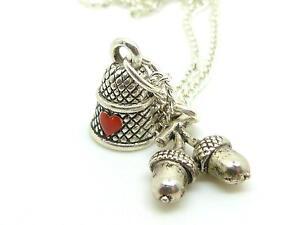 Peter Pan Wendy Love Token Heart Thimble Acorn Charms 18 Silver