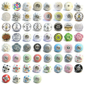 Colourful Ceramic Knobs Drawer Pulls Cupboard Door Knobs Porcelain ...