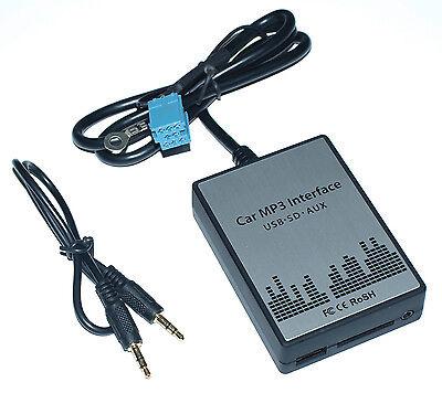 USB MP3 AUX Adapter AUDI A2 A3 8L 8P A4 B5 B6 B7 A6 C5 A8 D2 TT 8N 8/20pin ISO