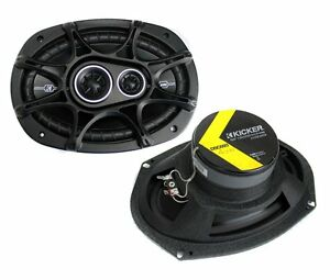"2) New Kicker 41DSC6934 D-Series 6x9"" 360 Watt 3-Way Car Audio Coaxial Speakers"