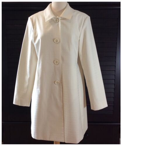 Nwot Coat Down Lined Størrelse Jacket 14 Button Cream Dstudio Elfenben Kvinders wHqxavX0