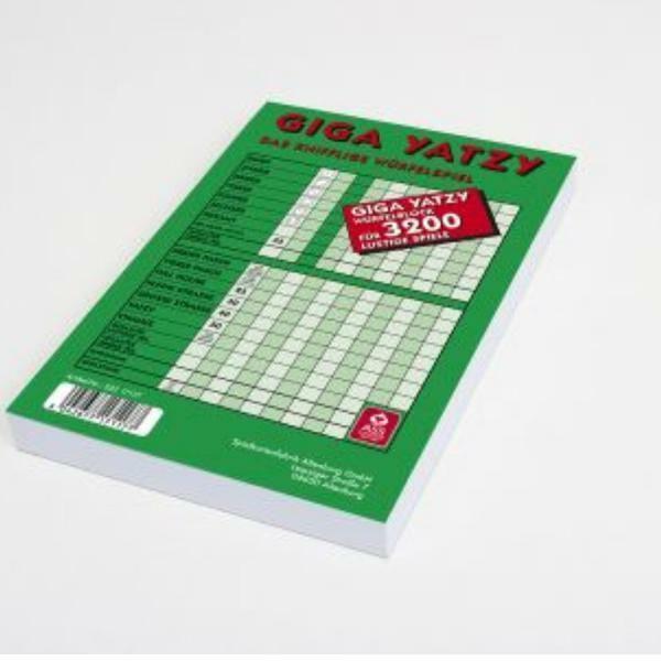 Knobelblock Schreibblock von Frobis 5 Giga Yatzy Würfelblöcke 160 Blatt DIN A5
