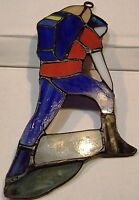 Stained Glass Hiker Backpack Sun Catcher Camping