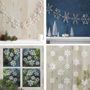 Snowflake Christmas Decorations Christmas Hanging Garlands Ebay