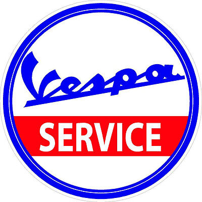 """#2146 6/"""" Vespa Scooter Oval Vintage Logo Decal Scooter Stickers LAMINATED 1"""