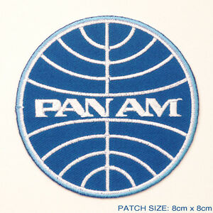 PAN-AM-Classic-1960-039-s-Style-Airlines-Company-Logo-Embroidered-Iron-On-Patch