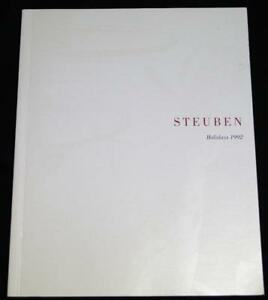Details about STEUBEN GLASS COMPANY HOLIDAYS ADVERTISING SALES CATALOG &  PRICE GUIDE 1992
