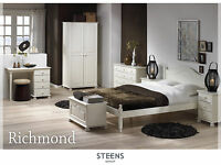 Richmond White Bedroom Furniture Wardrobes & Chest of Drawers