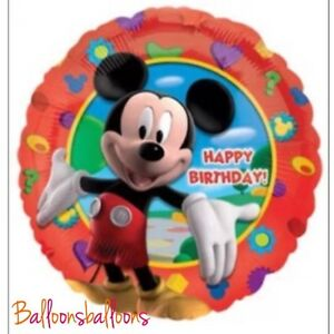 MICKEY-MOUSE-BALLOON-18-034-Foil-HAPPY-BIRTHDAY-Kids-Party-UK-SELLER-Helium