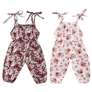 Newborn Baby Girl Floral Romper Bodysuit Jumpsuit Playsuit Outfit Summer Sunsuit