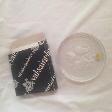 "Val Saint Lambert Belgium Crystal Wine Bottle Coaster ""Val Diffusion"" Fruit"