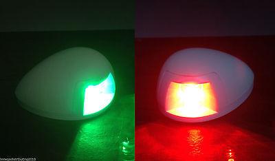 MARINE BOAT LED GREEN STARBOARD RED PORTSIDE NAVIGATION LIGHT VERTICAL MOUNT