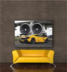 McLaren P1 Turbines Canvas Art Poster Print Home Wall Decor