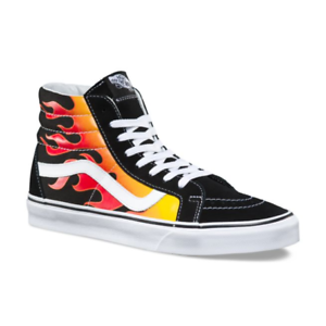 09341dc0b6 Vans FLAME SK8-Hi Reissue Shoes  NEW Flames Fire MENS SIZE 9-13 Hi ...