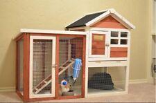 Advantek Rabbit House Pet Animal Guinea Pig Enclosure Backyard Bunny Hen Cage