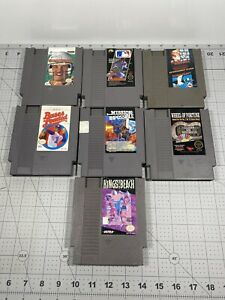 LOT-of-7-Nintendo-NES-Cartridge-Used-Vintage-Video-Games-UNTESTED