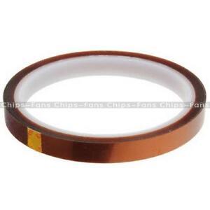 10mm-100ft-Kaptonband-Band-BGA-Hitzebestaendige-Hochtemperatur-polyimidfolie-Gold