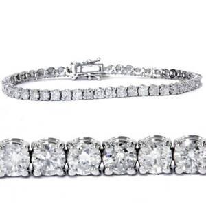 7-00-Ct-Round-HUGE-Natural-Diamond-Tennis-Bracelet-14K-White-Gold