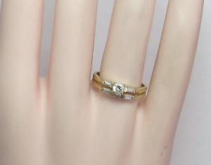 Harold Freeman 14K Gold Brilliant Cut Diamond Estate Engagement Wedding Ring
