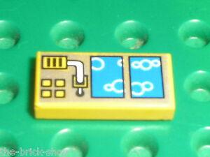 LEGO-AQUAZONE-Tile-1-x-2-ref-3069bpap-Set-6199-6180