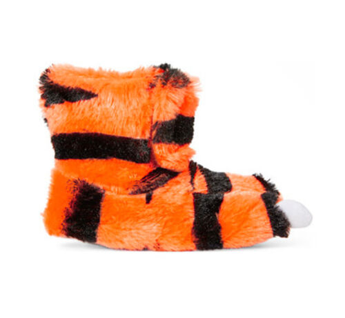 Carter/'s Tiger 2 Orange Boy/'s Faux Fur Booties Slippers Feet Warmer 5//6 7//8 NWT