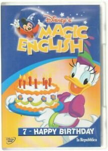 Disney-039-s-MAGIC-ENGLISH-vol-7-HAPPY-BIRTHDAY-DVD-Abbinamento-Editoriale