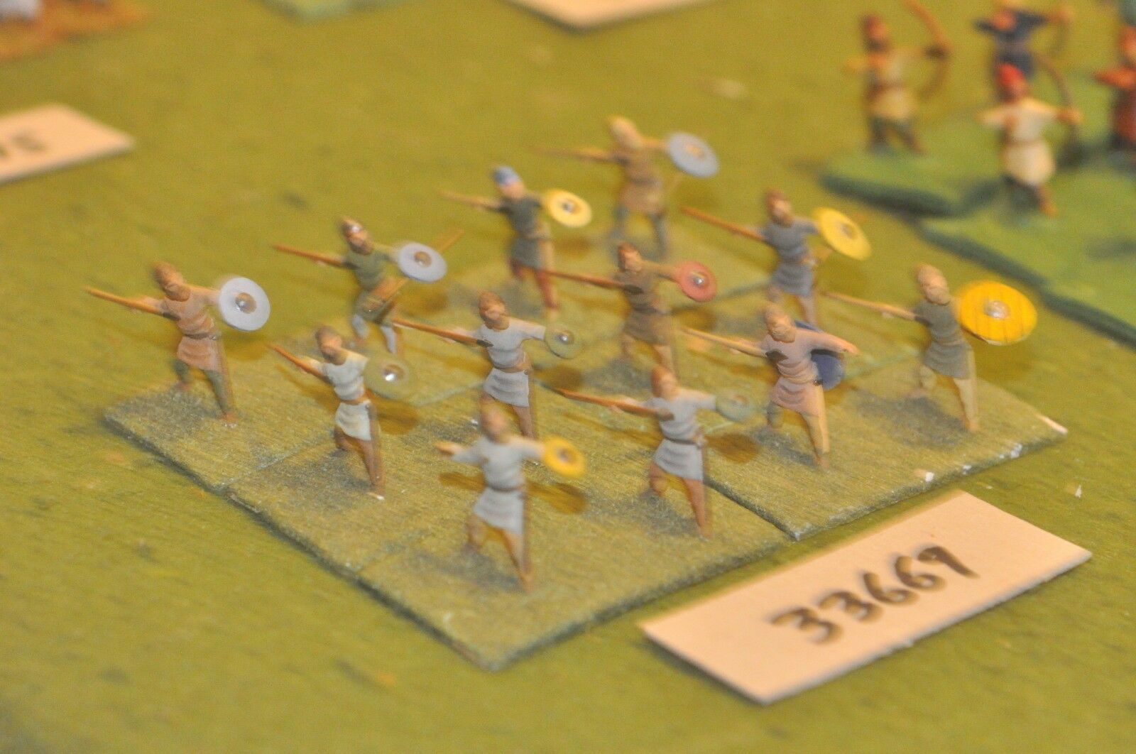 25mm dark ages   anglo-saxon - javelinmen 12 12 12 figures - inf (33669) 31548d
