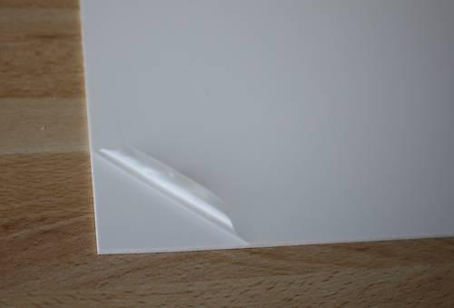 1 Hart PVC Kunststoffplatte weiß 245x495x2mm