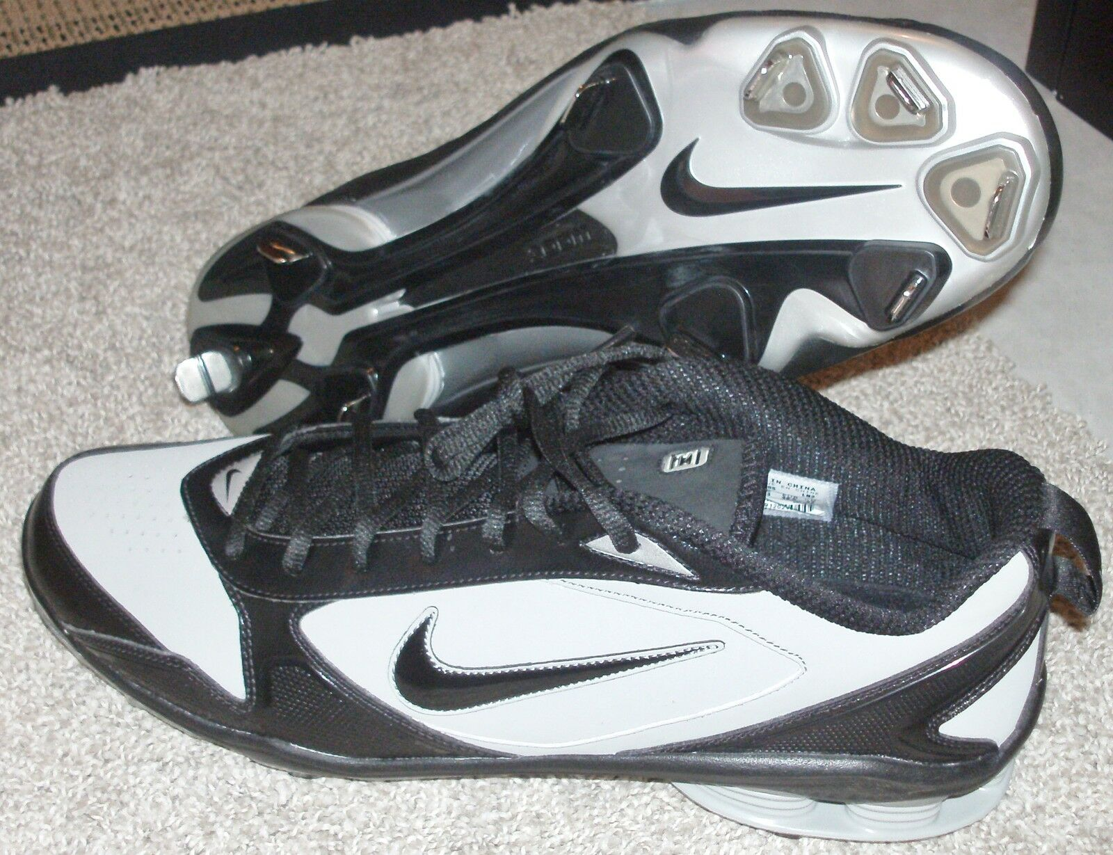 NEW NIKE SHOX FUSE 2 Baseball Cleats MENS 14 Metal Pro Black Price reduction Brand discount