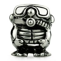 Sterling Silver Ohm Scuba Diver Bead Charm Aas003