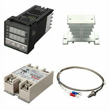 Rex C100 Pid Temperature Control Kit 40a Ssr With K Thermocouple Probe Heat Sink