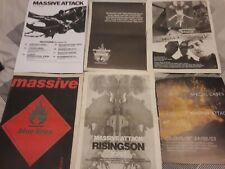 MASSIVE ATTACK magazine advert / small poster TOUR 1988 protection BLUE LINES