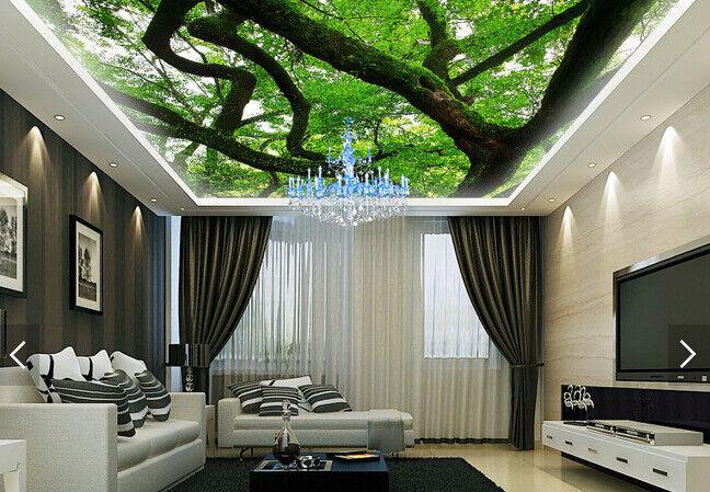 3D Green Trees 506 Ceiling WallPaper Murals Wall Print Decal AJ WALLPAPER US