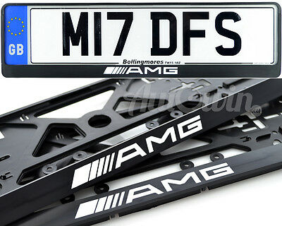 Mercedes-Benz CLA45AMG C63AMG Euro Standart License Plates NEW Frames 2pcs