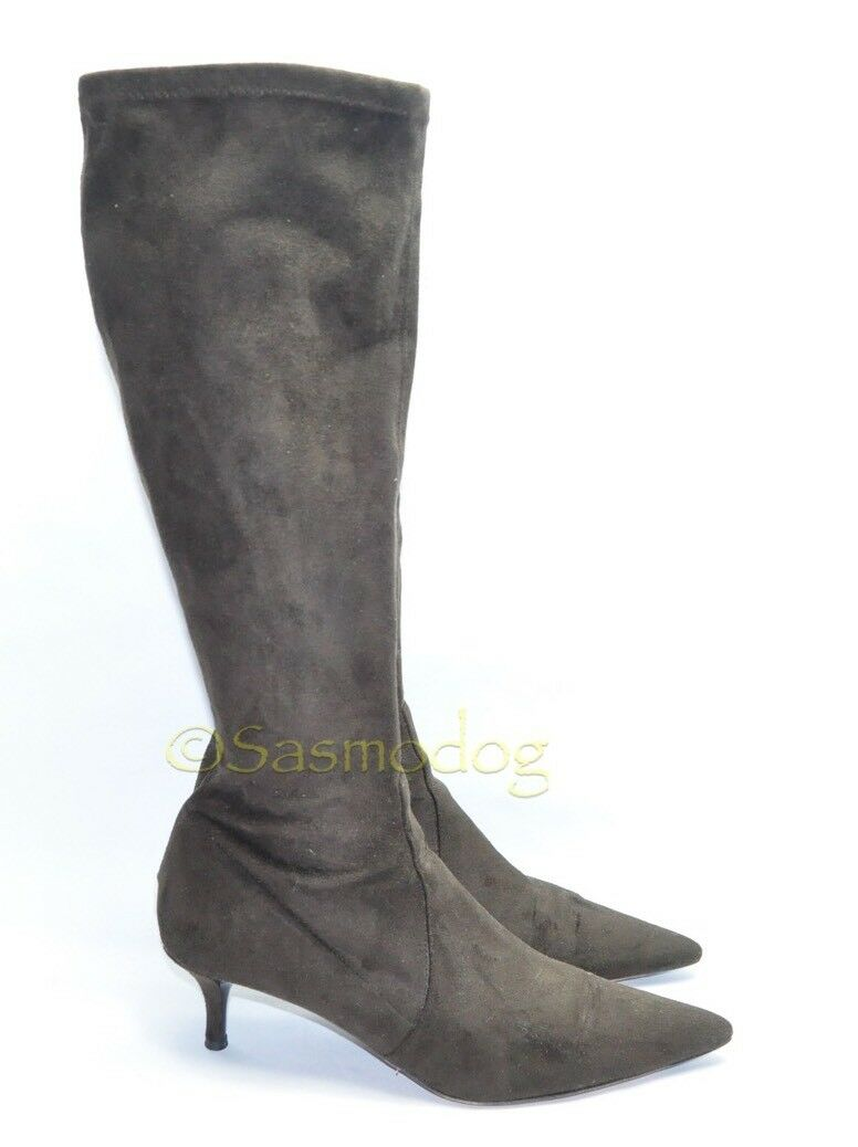 damen's Donald Pliner Pliner Pliner  Knee High Heels Größe 10M US braun NEARLY NEW ed84c7