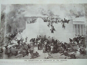 ANTIQUE-PRINT-C1909-THE-DESTRUCTION-OF-JERUSALEM-BY-THE-ROMANS-FROM-PAINTING-ART
